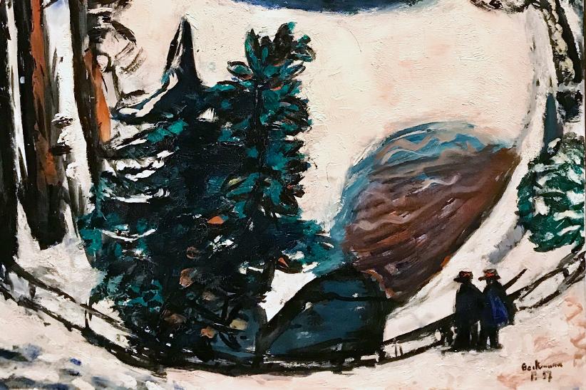 El lago en invierno, Max Beckmann (detalle) en cafecuento ediciones