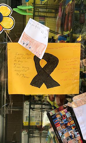 Ramblas de Barcelona, memoriales, agosto 2017 | Hebe Prado |#No Tinc Por